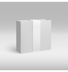 Vertical box with ribbon vector image vector image