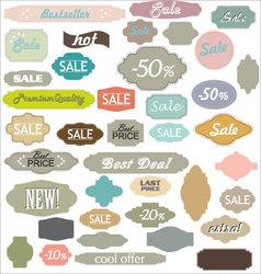 Vintage sale labels vector