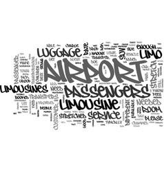 Airport limousine advice text word cloud concept vector