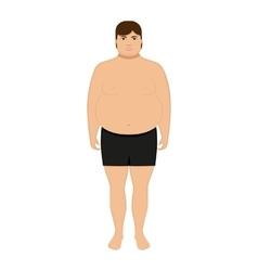 cartoon fat man Adult big boy vector image vector image