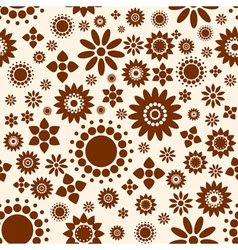 Seamless Decorative floral background vector image