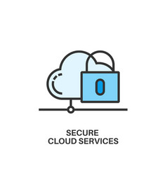 secure cloud services icon vector image