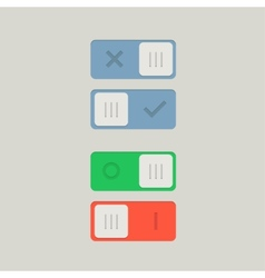 Toggle Switch On and Off position Button vector image