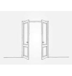 Black contour doors vector image