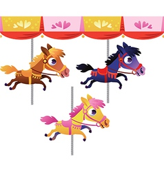 cartoon carousel horse vector image vector image