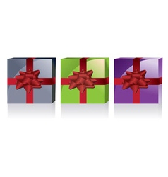 different kinds of gift boxes vector image vector image