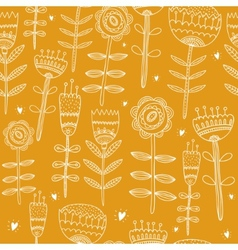 Flower yellow background vector image vector image