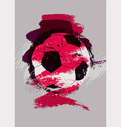 soccer typographical vintage grunge style poster vector image vector image