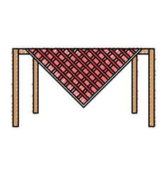 table picnic vector image vector image