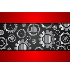 Technology abstract background with metallic gears vector image vector image