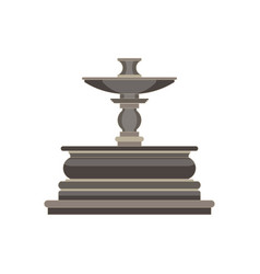 vintage flat icon tiered fountain isolated on vector image