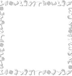 White Chrismtas Elements Border vector image vector image