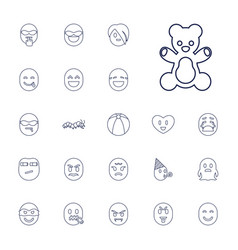 22 funny icons vector