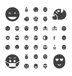 37 cheerful icons vector