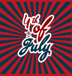 4th of july happy american independence day with vector image