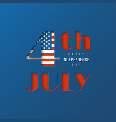 4th of july - independence day of america 3d vector image