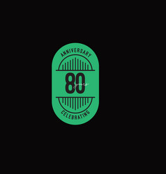 80 years anniversary celebrations retro style vector