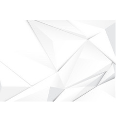 Abstract geometric white tone polygon background vector