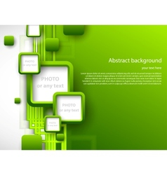 Abstract green brochure vector