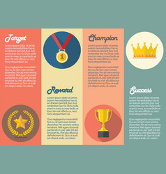 achievements icon concept infographic vector image