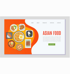 asian food and chinese japanese cuisine web vector image
