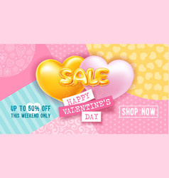 balloons letters sale on colored background with vector image