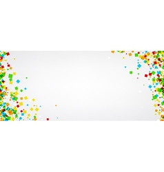 Banner with colour squares vector image