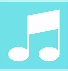 Bar musical note icon flat style vector