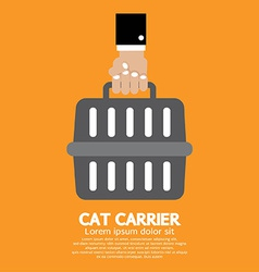 Cat Carrier vector image