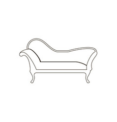chaise lounge armchair seat vector image