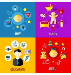 Childhood concept in flat design vector image