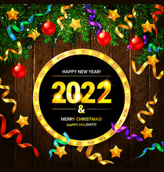 christmas and new year wishes on card vector image