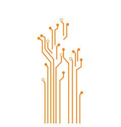 Circuit board template design vector