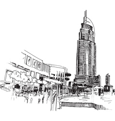 City Drawing vector image