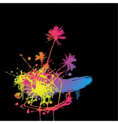 Colored splash vector