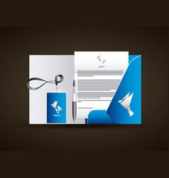 corporate identity creative agency branding vector image