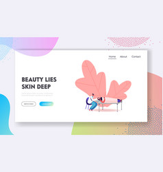 cosmetology beauty or skincare landing page vector image