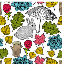 creative colorful seamless pattern with cute vector image