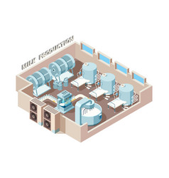 dairy food factory automation industrial milk vector image