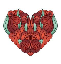 Deco abstract heart vector