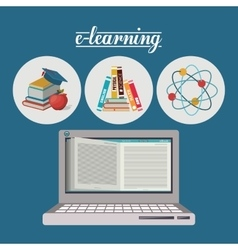 e-learning concept design vector image