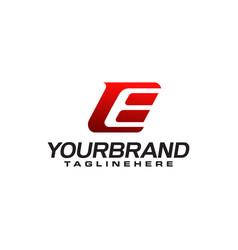 E letter logo template vector