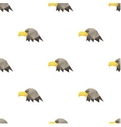 Eagle head triangle pattern backgrounds vector