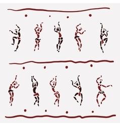 Figures of African dancers vector