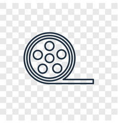 film reel concept linear icon isolated on vector image