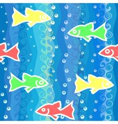 fish swim in sea vector image