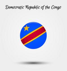 flag democratic republic congo icon vector image