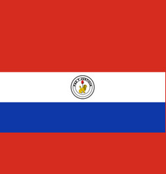 Flag of paraguay reverse side vector