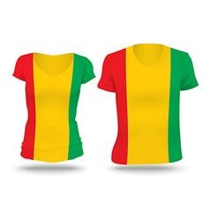 Flag shirt design of Guinea vector image