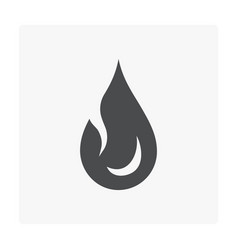flammable design icon vector image